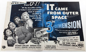 IT CAME FROM OUTER SPACE__Original 1953 Trade AD / ADVERT_promo__Barbara Rush_3D
