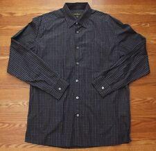 Ermenegildo Zegna Made in Italy Mens Long Sleeve Button Down Dress Shirt Size L