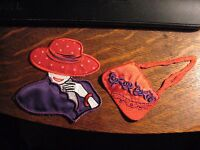 Red Hat Society Patch - Women's Organization Applique Jacket Sweater Patches (2)