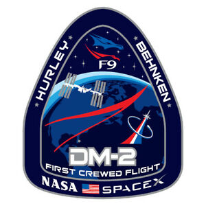Space X Dragon Falcon 9 DM2 Mission Sticker Decal (Select your Size)