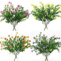 Artificial Flower False Blossom Plastic Dried Rose Eucalyptus Green Pot Plants