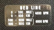 KAWASAKI KH250 H2C H1 KH400 KH500 H2B F11 KH100 TACHOMETER REDLINE CAUTION DECAL