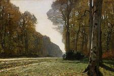 Oil painting Claude Monet - Le Pave de Chailly summer forest landscape canvas