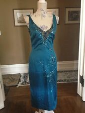 GORGEOUS MANDALAY TEAL DRESS SZ 10, NWOT