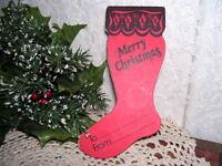 Greensburg Savings and Loan Red Stocking Christmas Savings Vintage