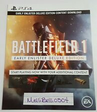 Battlefield 1 Early Enlister Deluxe Edition DLC PS4 (NOT FULL GAME)