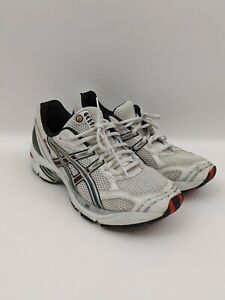 Asics Gel Womens Running Shoes Size 9.5 White Red Black TN611
