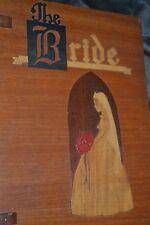 RARE 1900s ARTS and CRAFTS inlaid wood BRIDE book PASADENA Wood and METALCraft