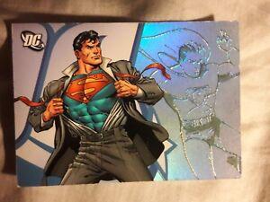 2006 superman card DC Legacy hologram promo #P1 RARE
