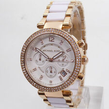 NEW MICHAEL KORS MK5774 LADIES ROSE GOLD PARKER WATCH