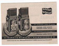 Pubblicità 1942 ROLLEIFLEX ROLLEICORD FOTO old advert werbung publicitè reklame
