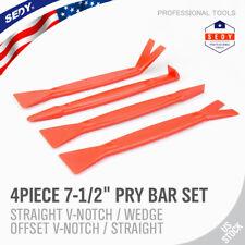 4pc Nylon Pry Bar Set Automotive Dash Panel Plastic Molding Trim Remover Puller