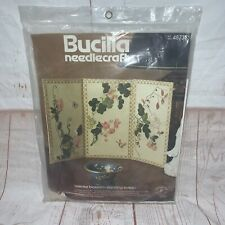 Bucilla Needlecraft Kit Oriental Blossom Vintage Standing Screen #48737 NOS