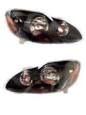 03 08 Toyota Corolla Black Headlights Set Headlamps Lights Lamps 2003 2008