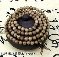 6mm Tibetan Buddhism 108 Wenge Wood Prayer Beads Mala Necklace