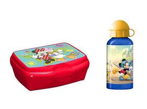 Minnie & Micky Maus Break Set (Lunch Box + Bottle) for School Kindergarten