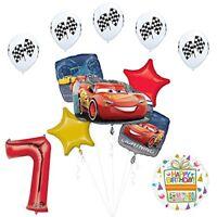Disney Cars 3 Lighting McQueen 7th Birthday Party Supplies