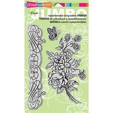 New Stampendous RUBBER STAMP cling JUMBO flower Bouquet SET free usa ship