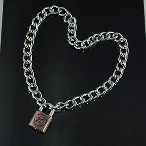 Padlock Lock R Pendant Charm Sex Pistol Rabbit 50cm Choker Chain Necklace-NEW