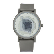 "Projects Watches ""Terra-Time"" Quartz Homme Acier Gris Silicon Montre 3D"