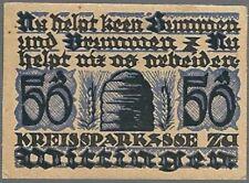 Notgeld - Wittingen - Kreissparkasse- 50 Pfennig - ohne Datum