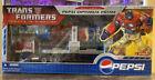 Hasbro 2007 Transformers Pepsi Convoy Trailer Optimus Prime Botcon Action Figure