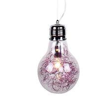 lampadario a forma di lampadina sospensione moderno cameretta bambini viola