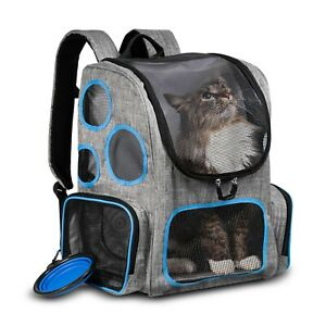 Cat Dog Backpack Carrier for outdoors hikes travel trips to the vet comfortable