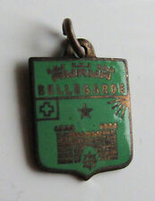 Vintage BELLEGARDE France enamel brass travel souvenir shield bracelet charm