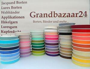 25 m Schrägband Baumwolle 20 mm gefalzt Einfassband Farben wählbar (0,40 €/m)