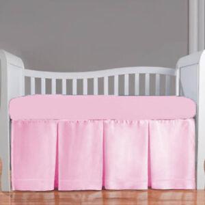 5pc Mini Crib Bedding set Fitted Pillowcase Comforter Front 3 Pleat Skirt Bumper
