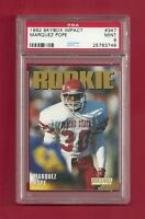 1992 SKYBOX IMPACT #347 MARQUEZ POPE ROOKIE RC PSA 9 MINT POP 1 CHARGERS 49ERS