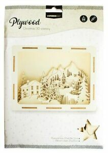 Studio Light Plywood Christmas 3D Scenery Set - Mountain Village - PWSL16