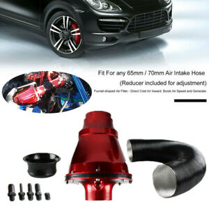 """3"""" / 76mm Universal Air Power Intake Filter Car High Flow Cold Air Inlet Cleaner"""