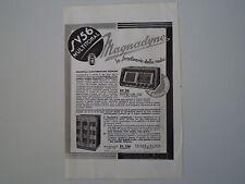 advertising Pubblicità 1938 RADIO MAGNADYNE SV 56/SV 156