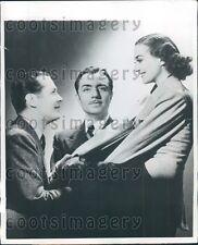 1956 Actor R Montgomery W Powell Joan Crawford Last of Mrs Cheyney Press Photo