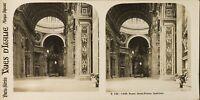Italia Roma Basilique Saint-Pierre Interno, Foto Stereo Analogica PL60