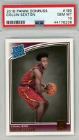 2018 Panini Donruss #180 Collin Sexton Rookie PSA GEM MINT 10
