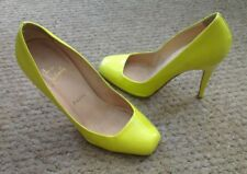 Amazing and rare! Christian Louboutin neon yellow courts heels 38 UK 5
