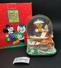 1994 Disney Snowglobe BEAUTY AND THE BEAST Have Yourself A Merry Little Xmas BOX