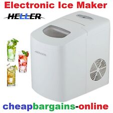 HELLER ELECTRONIC ICE CUBE MAKER MACHINE AUTOMATIC PORTABLE 10kg in 24Hrs WHITE