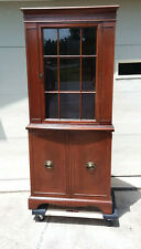 Brickwede Brothers Furniture Co. Mahogany Corner Cupboard Cabinet