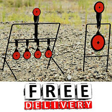 Steel Shooting Spinning Targets Auto Reset Stand Reactive Set Metal Rifle New