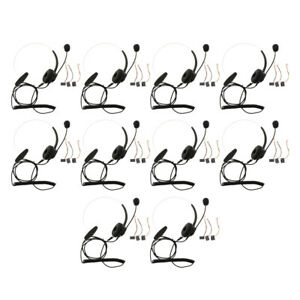 Set of 10 Wired Headset Center Customer Service with Mic for Office Call