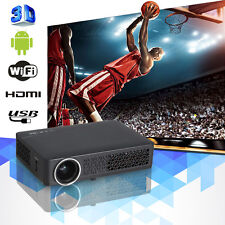 10000:1 HD 3D Wifi DLP Mini Projector LED LCD Home Cinema Theater 1080P USB RJ45