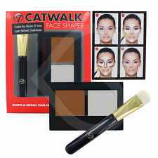 W7 CATWALK FACE SHAPER CONTOURING KIT INCLUDES BRUSH, HIGHLIGHTER/CONTOUR POWDER