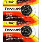 2 Pcs Panasonic CR1620 Lithium Cell Battery 3V, DL1620, ECR1620, Exp. 2028