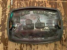 Vintage Las Vegas Nevada Souvenir Metal Tray Made In Japan