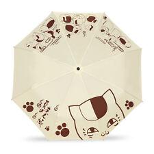 Anime Natsume Yuujinchou Three Folding Rain Umbrella Cosplay Sun Umbrella