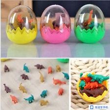 Rubber Eraser Hot Stationery Gift Pencil Dinosaur Egg Students Office Mini 8pcs
